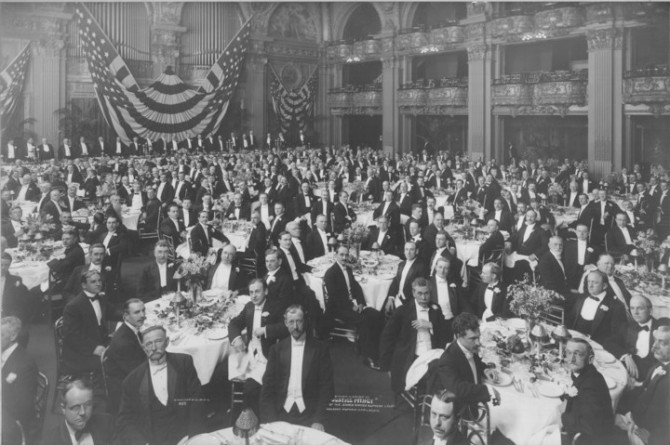 Dinner in Honor of Justice Mahlon Pitney III, US Supreme Court, April 27, 1912