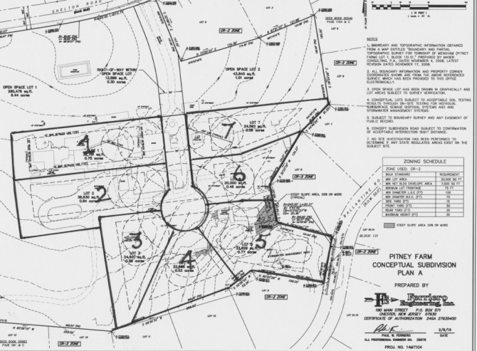 Map of Township Engineer's proposal